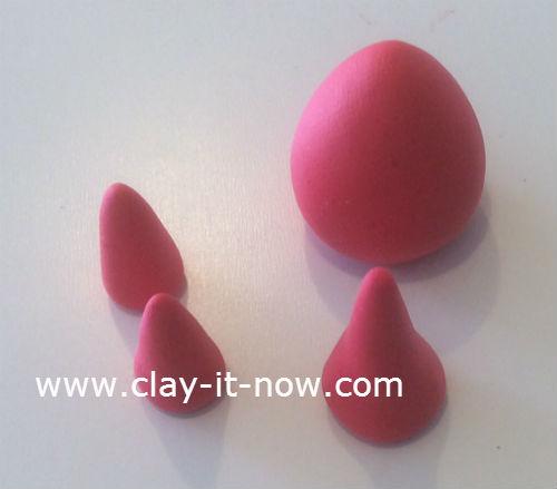 mini santa claus clay figurine - 1a