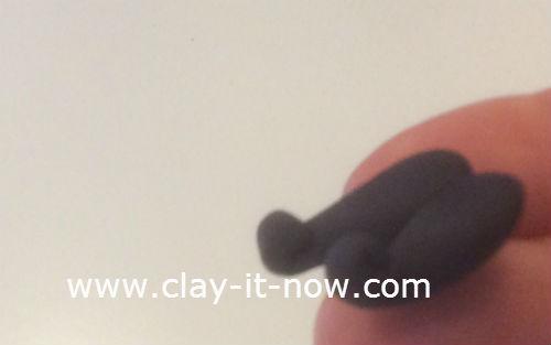 mini santa claus clay figurine - 7