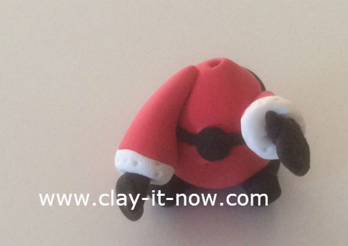 mini santa claus clay figurine - 9