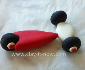my first scooter clay miniature, how to make scooter miniature