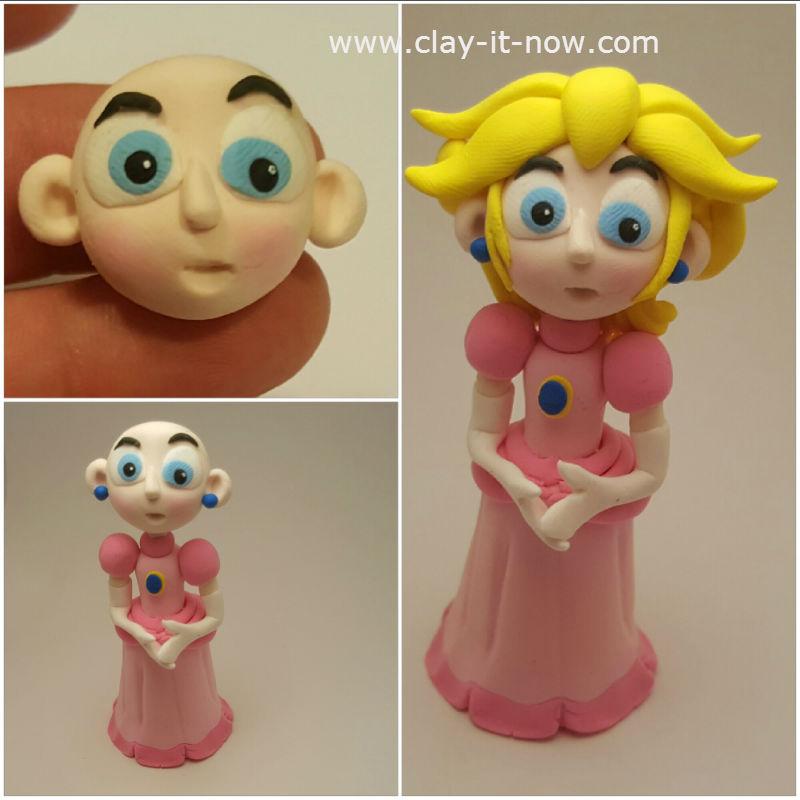 princess peach clay - princess toadstool - peach from super mario games-5