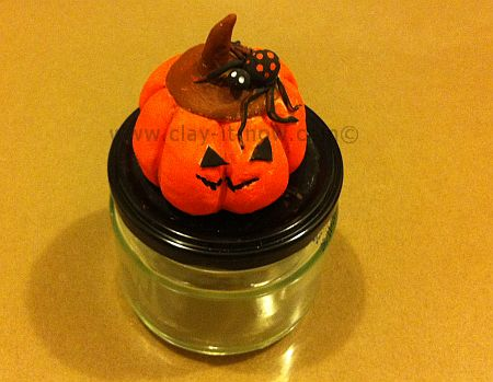 pumpkin candy jar, halloween craft, Halloween candy jar