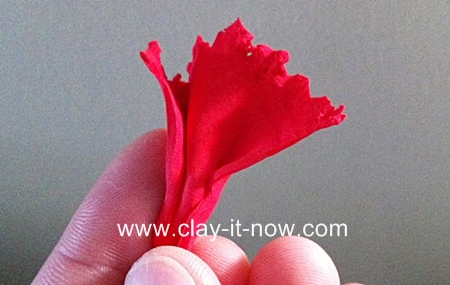 red carnation, carnation, clay flowe