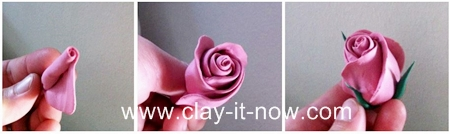 rose clay flower. how to make rose without cutter? making full bloom rose or rosebud?