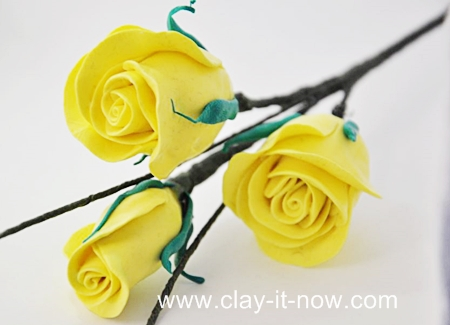 Rose clay flower diy without cutter - Easy ways of adding color to your home without overspending ...