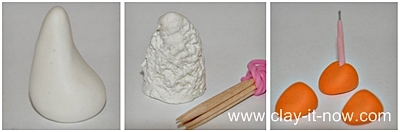 Sheep clay figurine - how to make sheep - STEP1