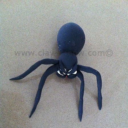 friendlyspider, spiderclay, clockwithspider, spiderforhomedecoration
