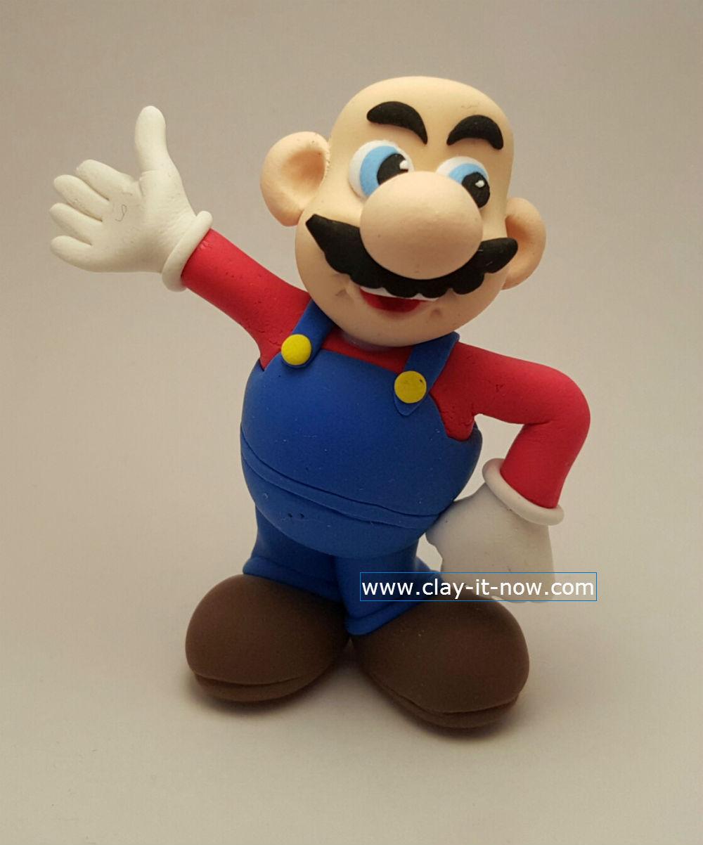 super mario clay, mario clay figurine , mario
