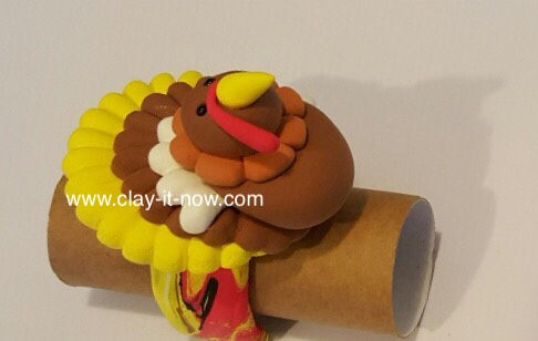 thanksgiving turkey clay, turkey, thanksgiving, turkey clay napkin ring-6