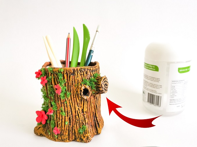 how to make tree trunk clay?