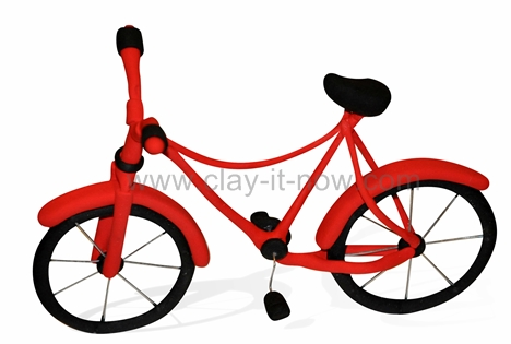 bicycle clay, bicycle figurine
