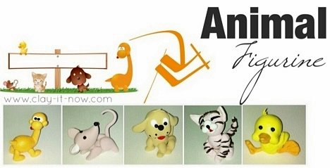 animal figurines with air dry clay