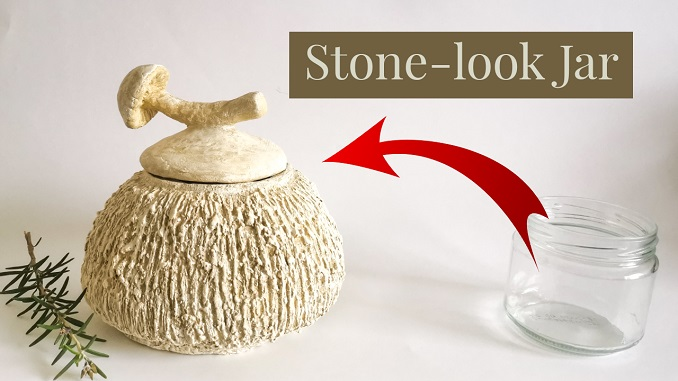 faux stone container - clayitnow
