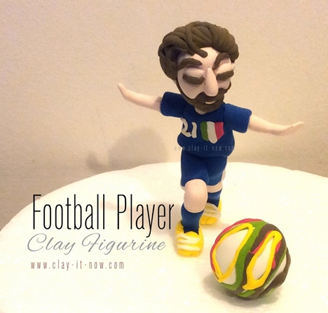 clay characters - Pirlo - Italian Football Player