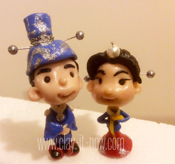 7795-cute mini figurines - Korean traditional dress
