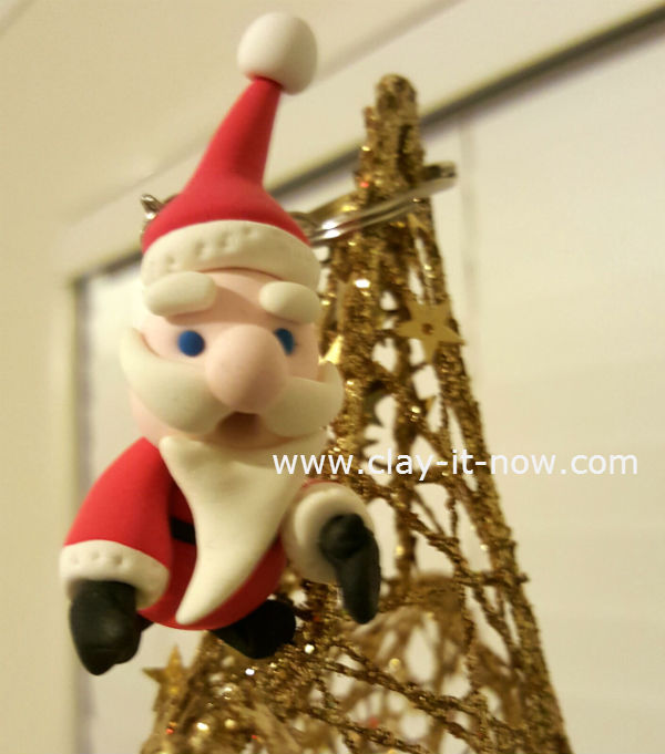 mini santa claus figurine - easy santa figurine - cute santa
