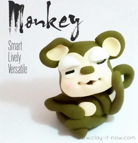 cute monkey figurine - how to make monkey figurine
