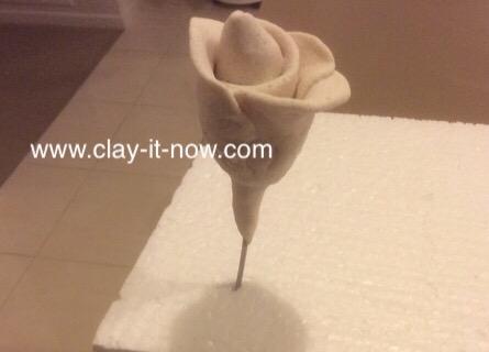 nobakesaltdough rose, flower without mold, rosesaltdough-4