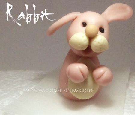 Easy rabbit figurine - rabbit clay