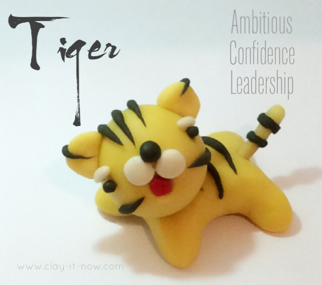 Tiger - 12 animals in Chinese Zodiac - how to make tiger figurine