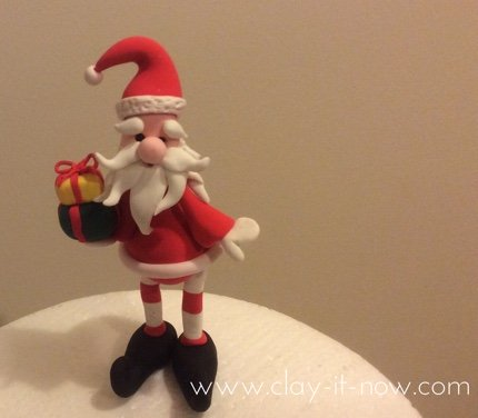 step-by-step guide to make santa claus figurine for christmas in air dry clay