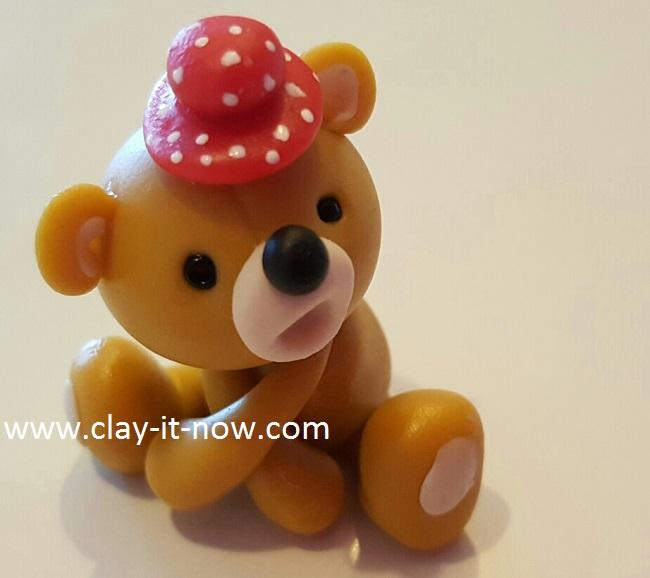 bear with love, cute bear,clay tutorial, best homemade clay, cold porcelain clay tutorial - 7