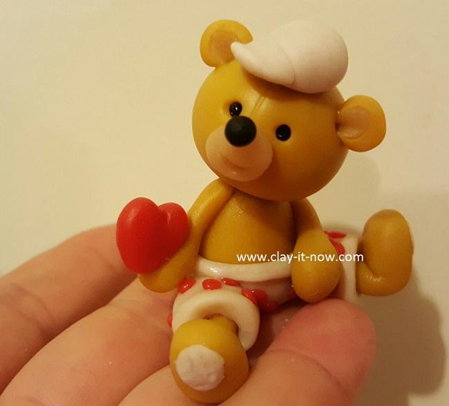 bear with love, cute bear,clay tutorial, best homemade clay, cold porcelain clay tutorial - 1