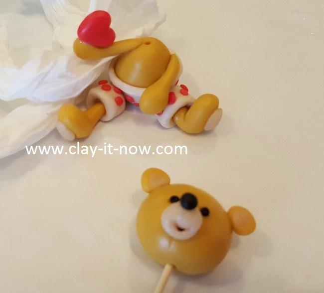 bear with love, cute bear,clay tutorial, best homemade clay, cold porcelain clay tutorial - 5
