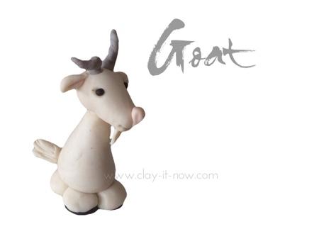 goat figurine following tutorial by Helen Penman