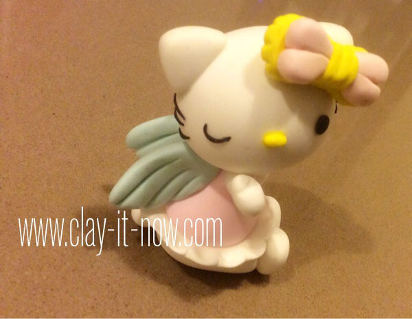 hello kitty figurine-story behind hello kitty-hello kitty angel-tutorial-2