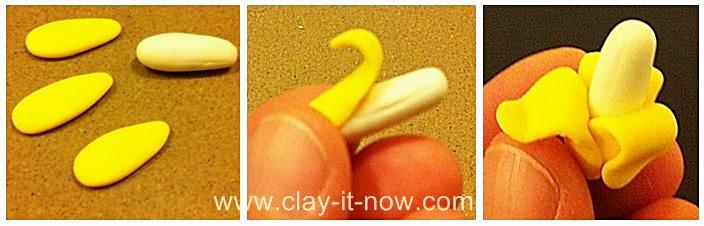 how to make banana clay miniature