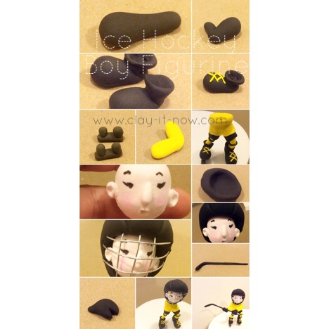ice hockey figurine step by step