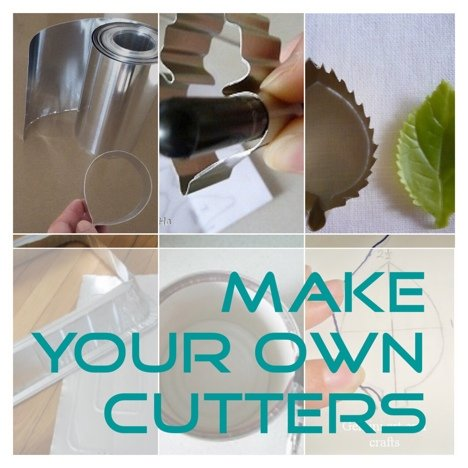 make your own cutters, clay cutters and cookies cutters