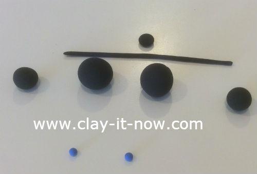 mini santa claus clay figurine - 3