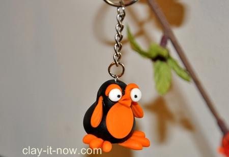 penguin key chain, penguin