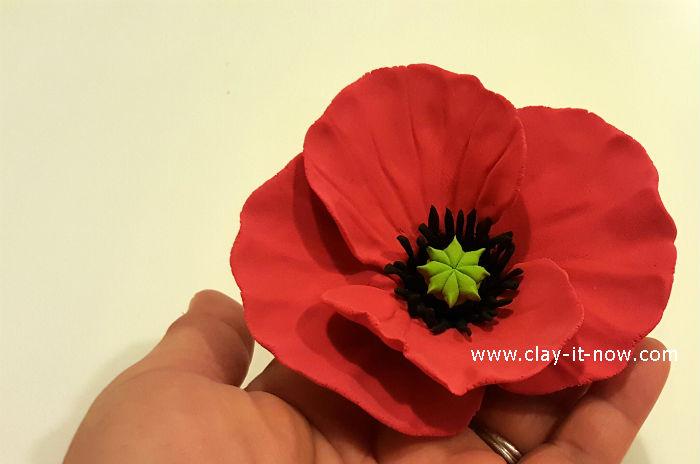 clay poppy flower tutorial
