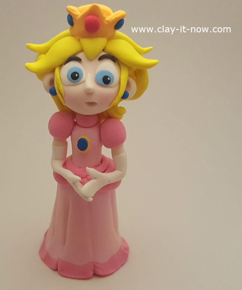 princess peach clay - princess toadstool - peach from super mario games