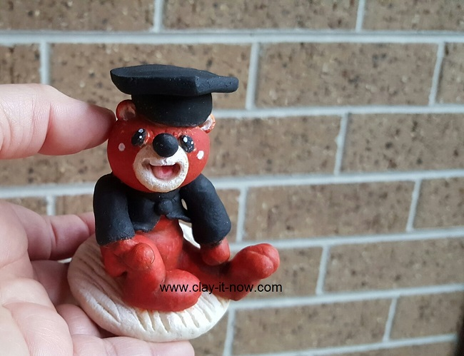 microwave salt dough, how to make bear clay, bear salt dough, bear figurine, salt dough