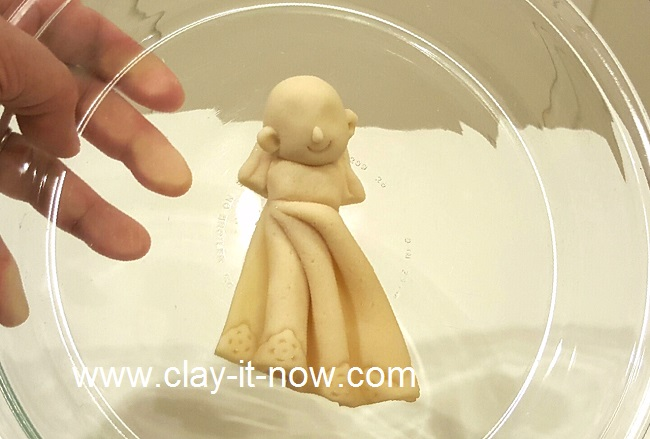 Idea for holiday craft, kids project, self image figurine, 2D self portrait  with salt dough, microwave salt dough