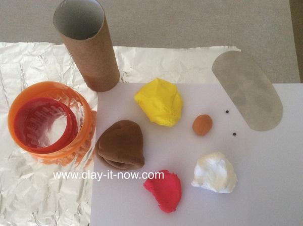 thanksgiving turkey clay, turkey, thanksgiving, turkey clay napkin ring-2
