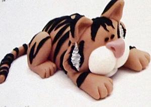 bestanimalfigurinebooks, 100 fondant animals for cake decorators, tiger
