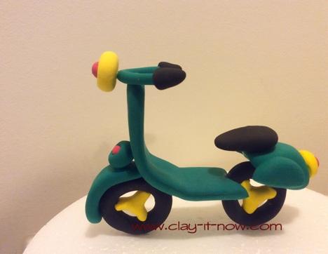 vespa scooter figurine-scooter clay - vespa